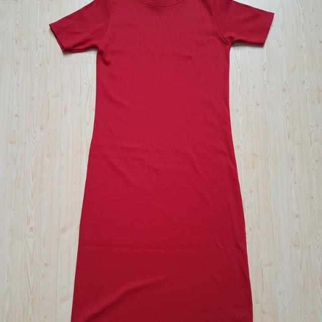 Midi Red dress giants shop terusan merah