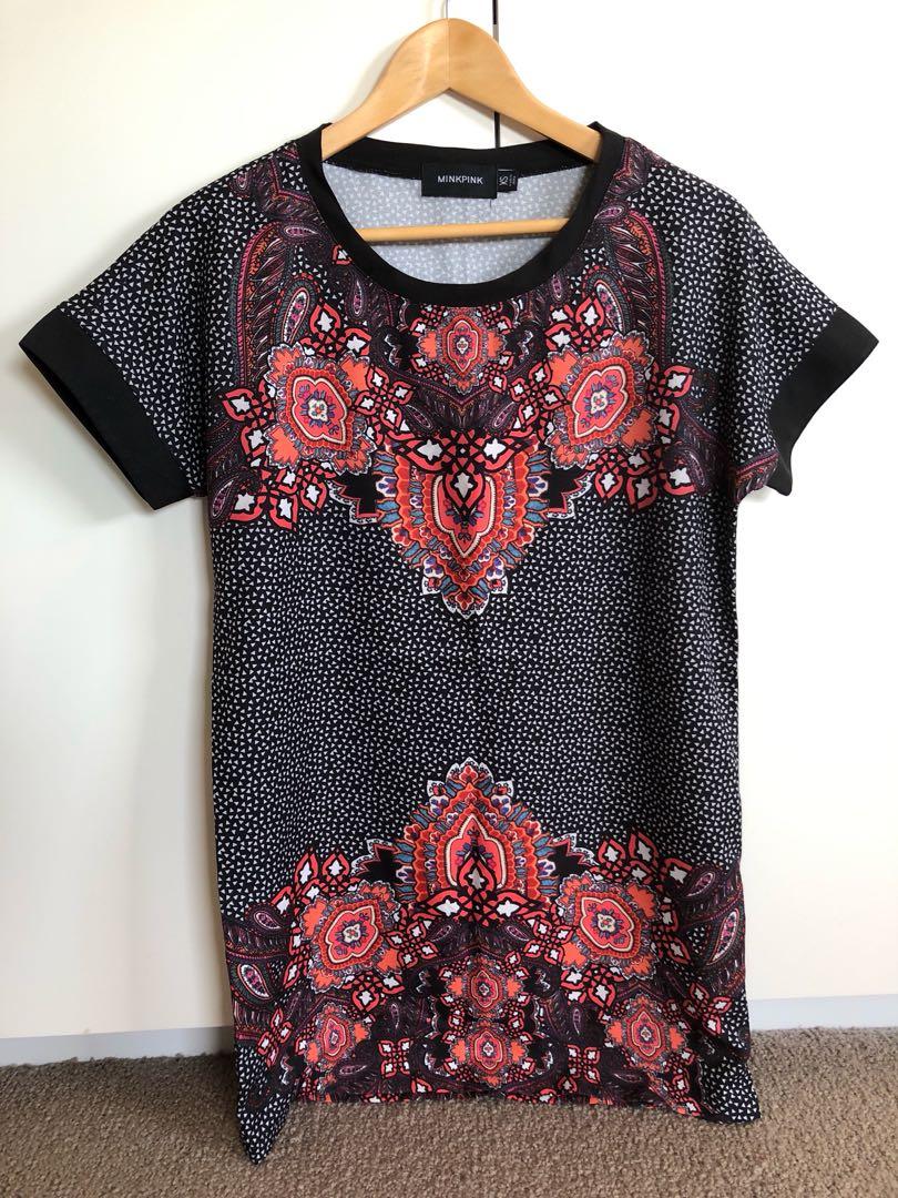 Minkpink Floral T-shirt Dress