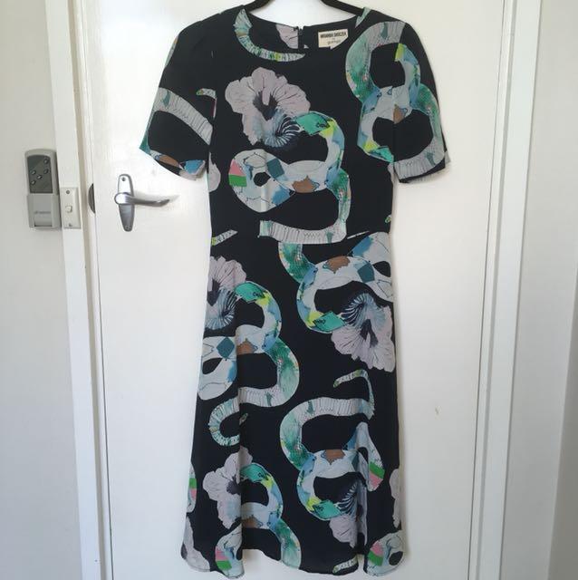 Miranda Skoczek SZ 6 Mad Snake midi dress