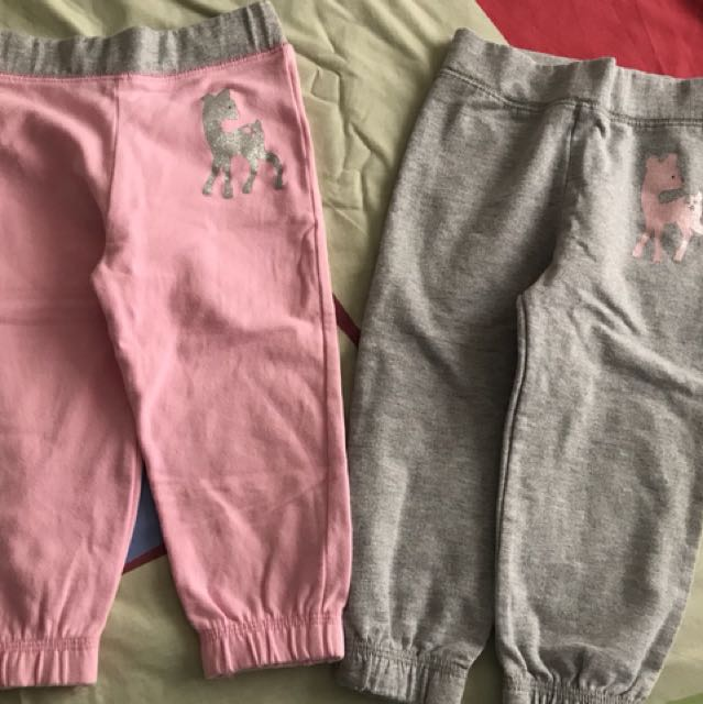 Mothercare pink and silver sparkly pants 12-18mos