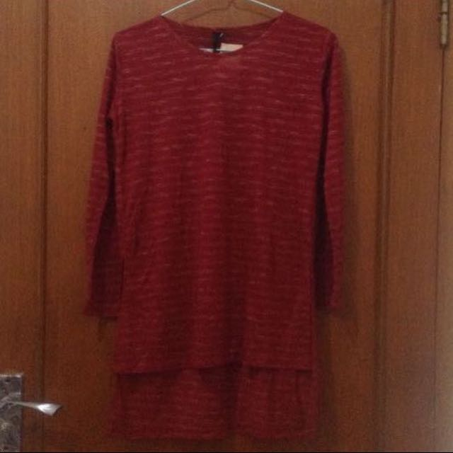 New blouse maroon