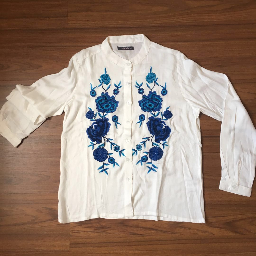 NEW Blue Flower Blouse