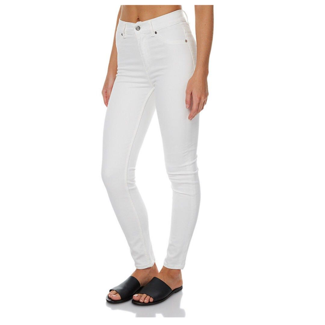 NEW Cheap Monday High Spray Jeans in White Waist size 26-27