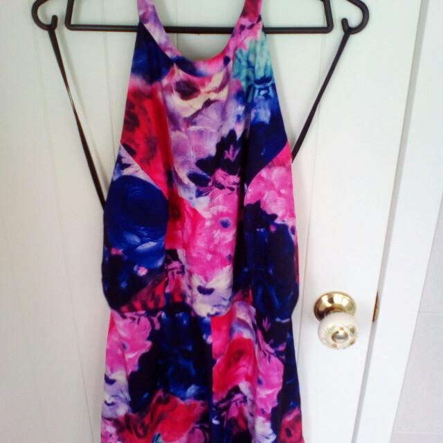 NEW!!! Flower Jumpsuit size12/14 (xl)