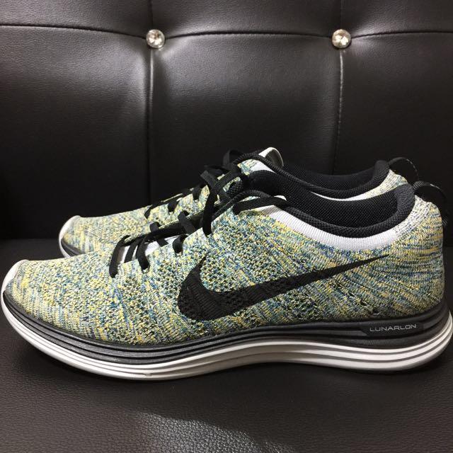 Nike Flyknit Lunar 1 雪花 綠 經典 US11.5 保證正品