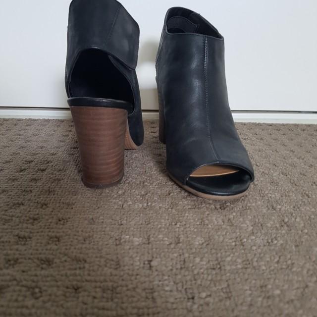 Nine West peep toe boots