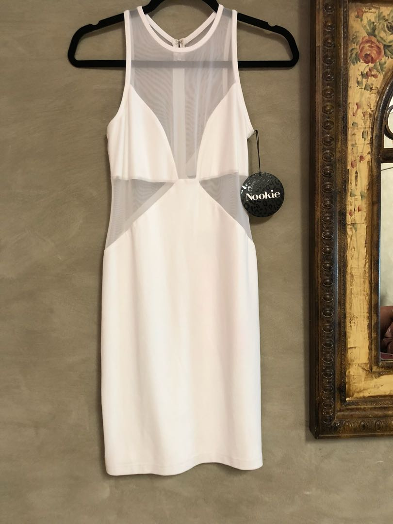 Nookie white dress size10