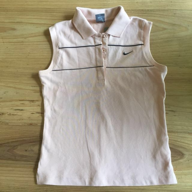 NWT Nike Size S sleeveless polo in dusty pink