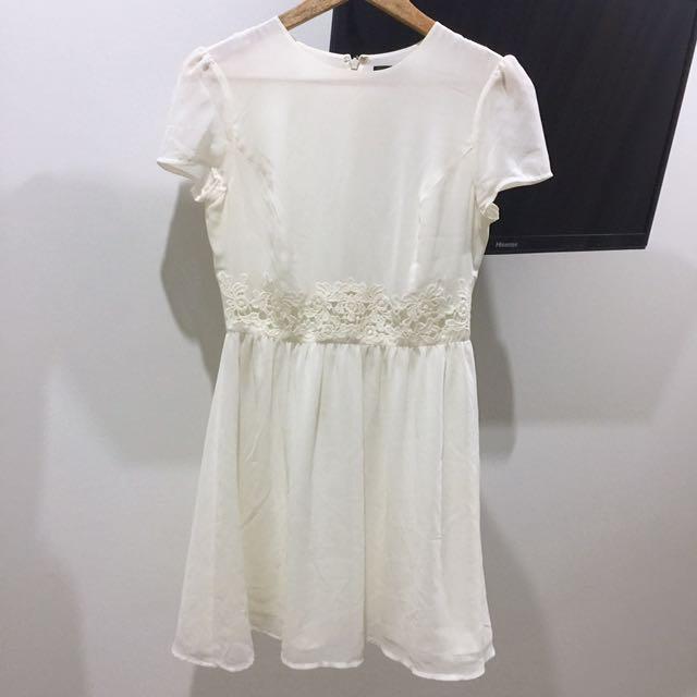 Off-White chiffon dress