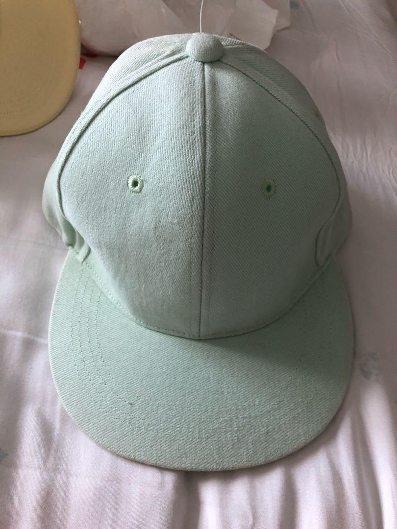 Pastel green hat