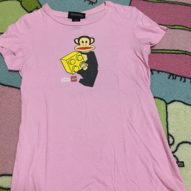 Paul frank x LEGO 短t tshirt 聯名