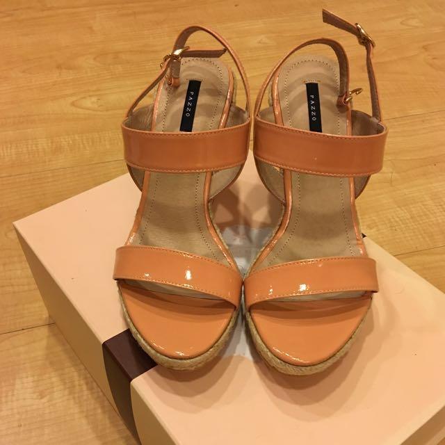 《降》全新PAZZO楔形鞋 37