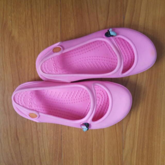 Pink Crocs (Size 10)
