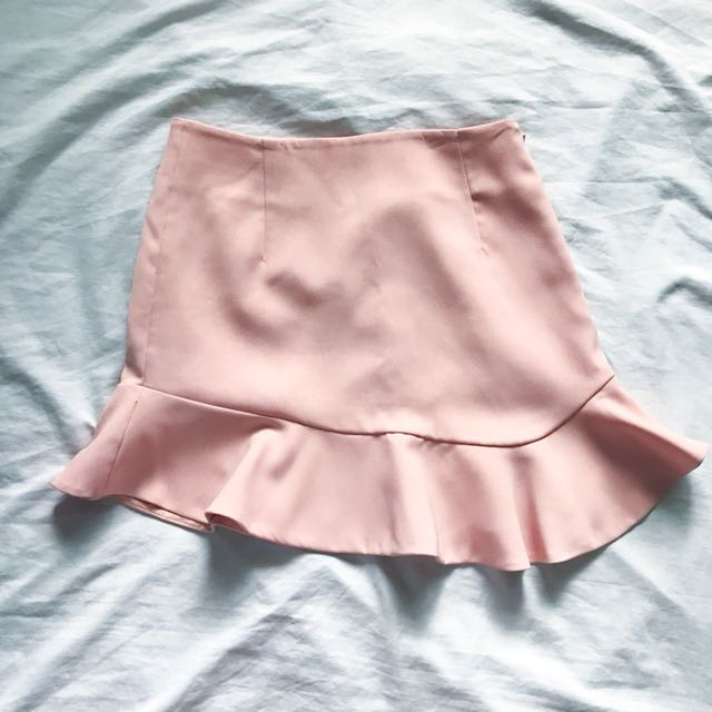 Pink trumpet skirt