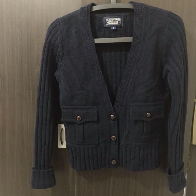 POLO羊毛針織外套