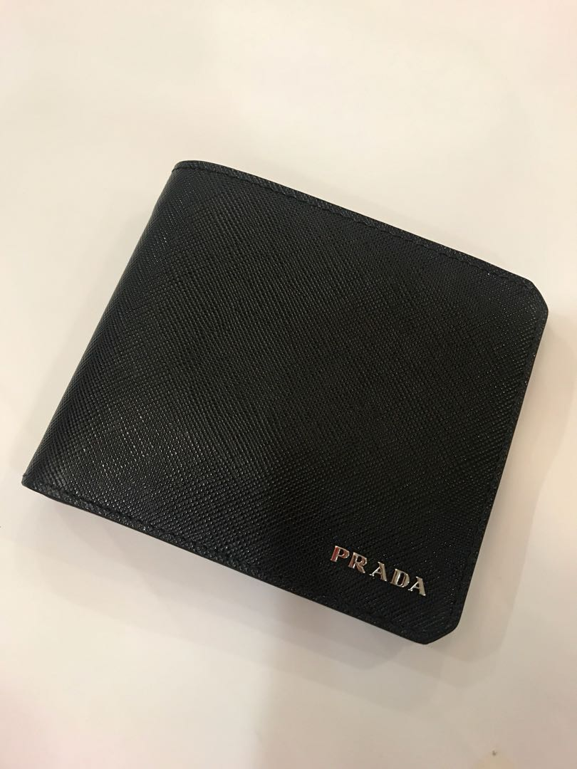 db377d380a4a ... release date prada wallet saffiano corner nero mens fashion bags wallets  on carousell 2be6a b58b9