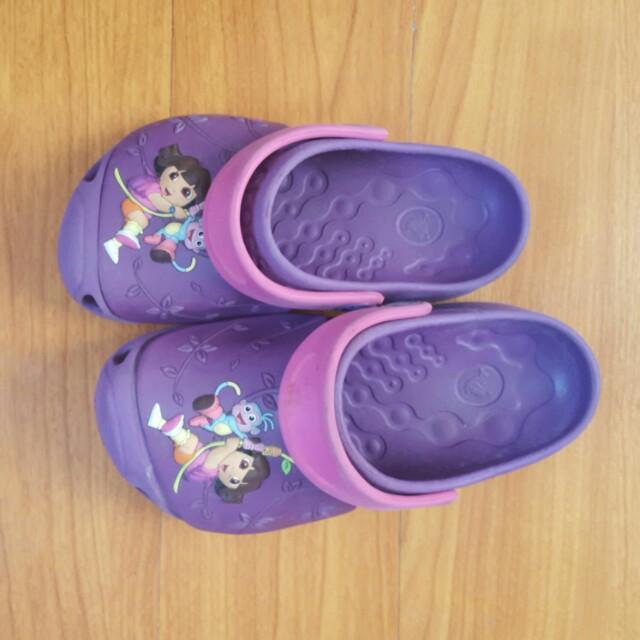 Purple Dora Crocs (Size 10/11)