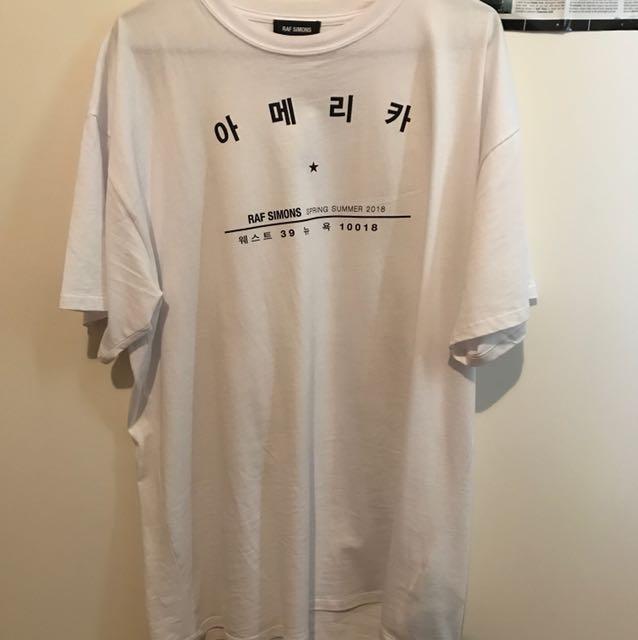 Raf Simons SS18 Korea Tee L