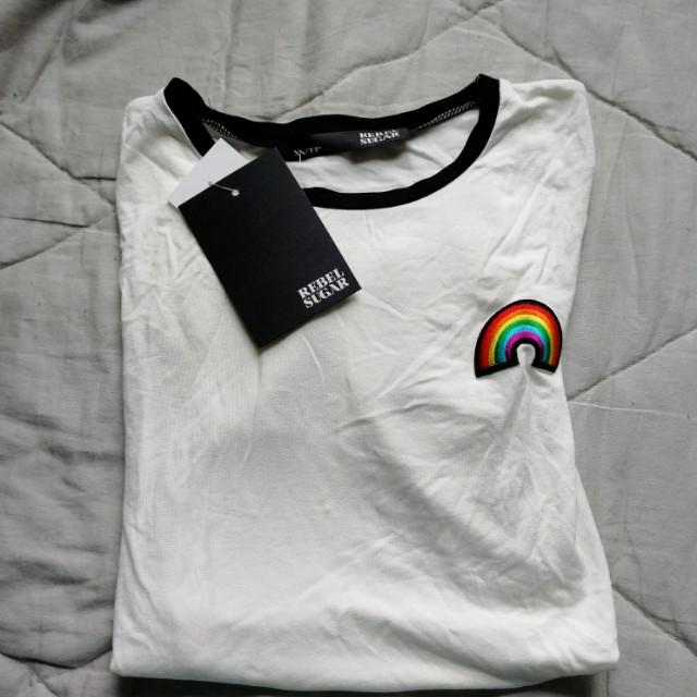 Rainbow ringer tshirt