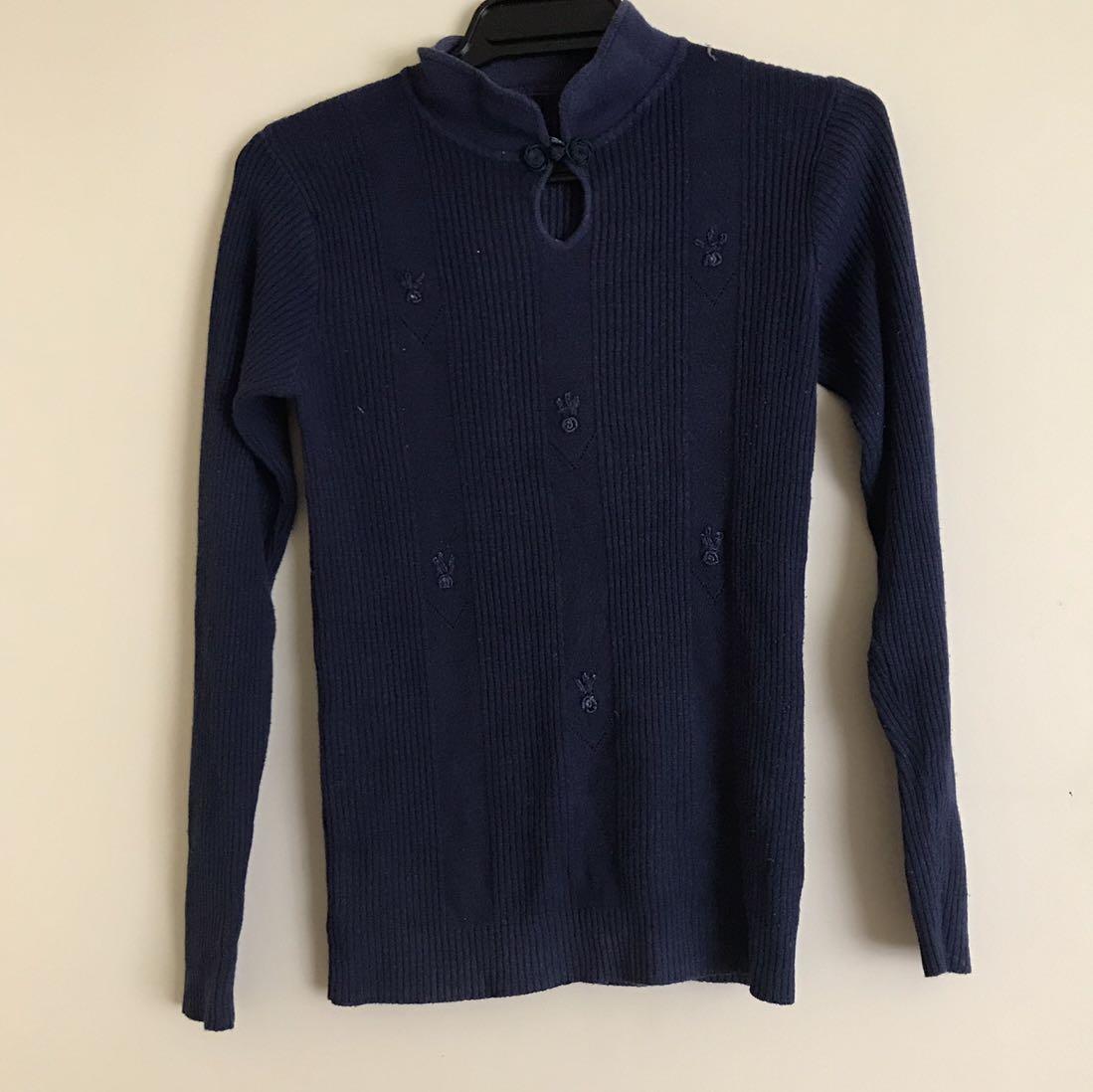 Ribbed Shirt with Loop