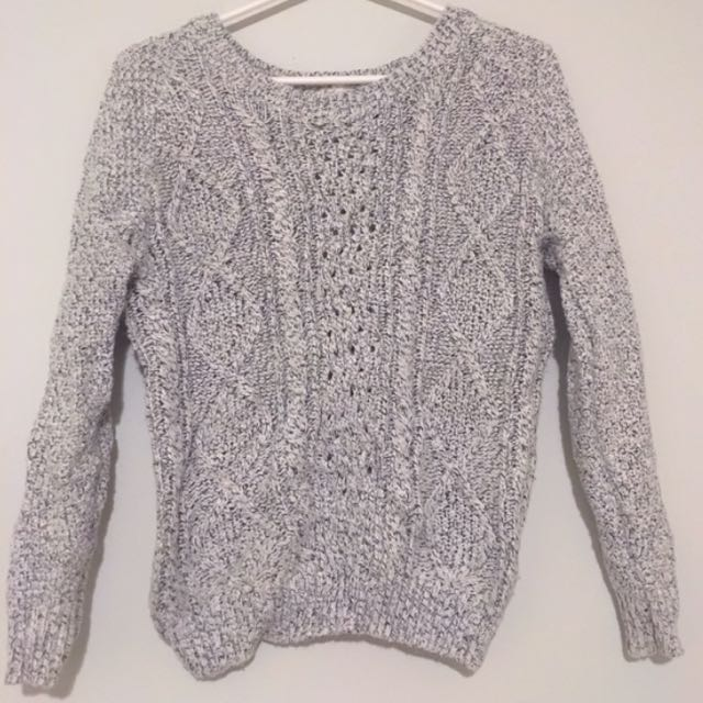 Salt and Pepper Knitted Sweater