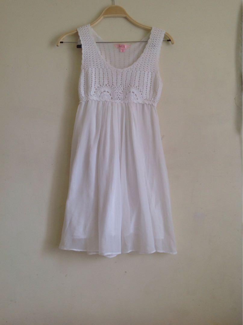 Sass crocheted dress