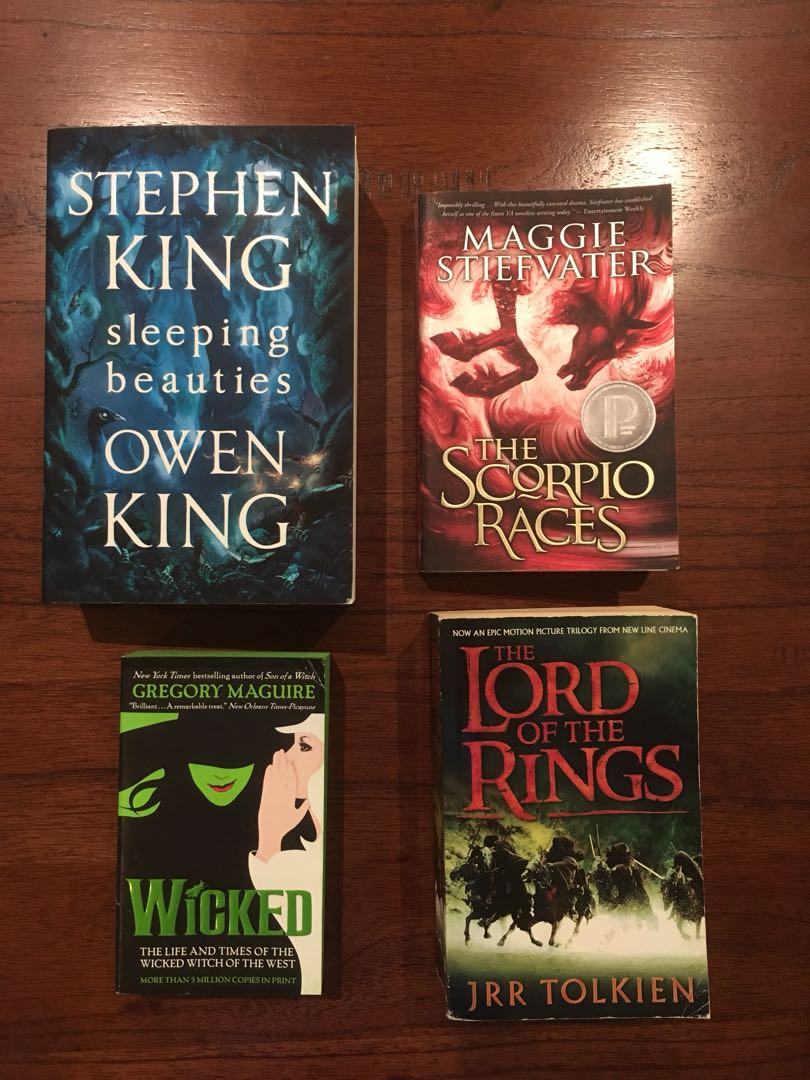 Sleeping Beauties, Wicked, Scorpio Races and Lord of the Rings