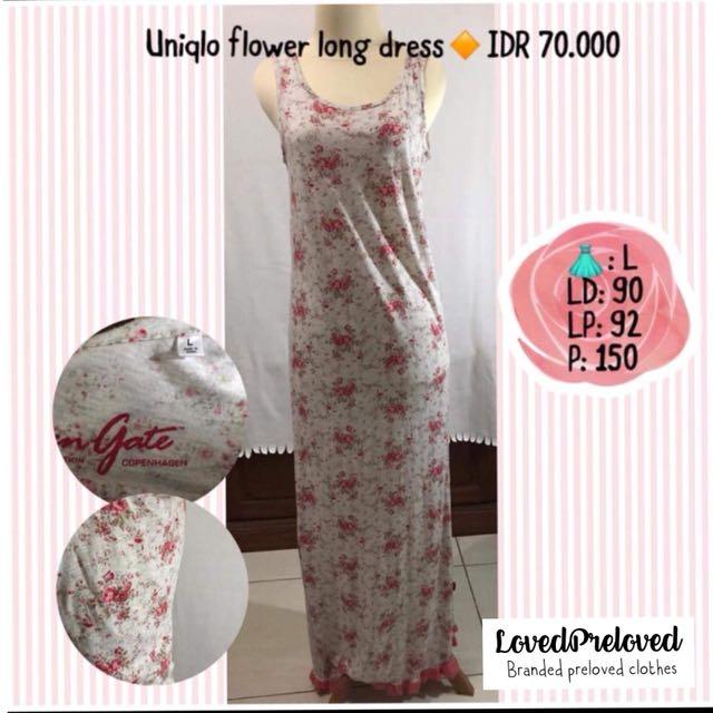 Uniqlo flower long dress