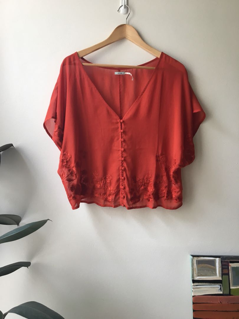 Urban outfitters sheer top