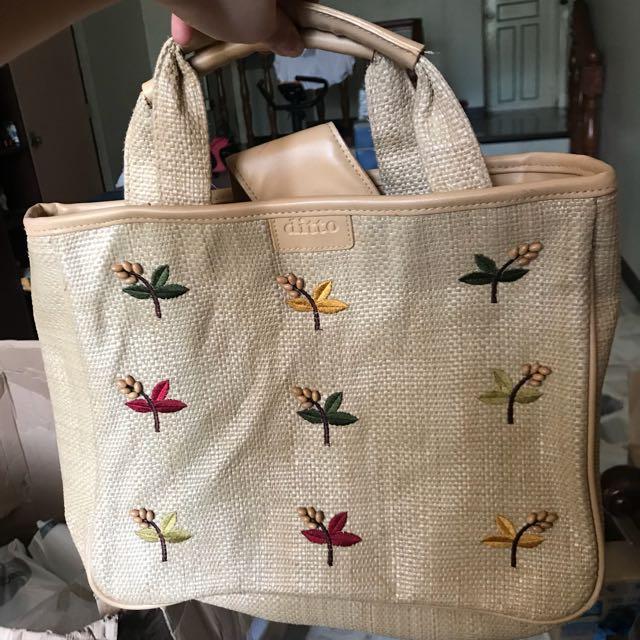 Woven Banig-type Handbag