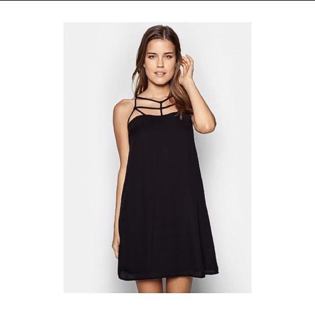 Zalora caged cut out dress