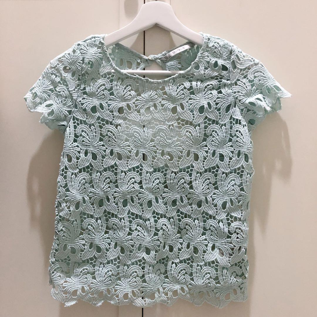 Zara - Mint Lace Top