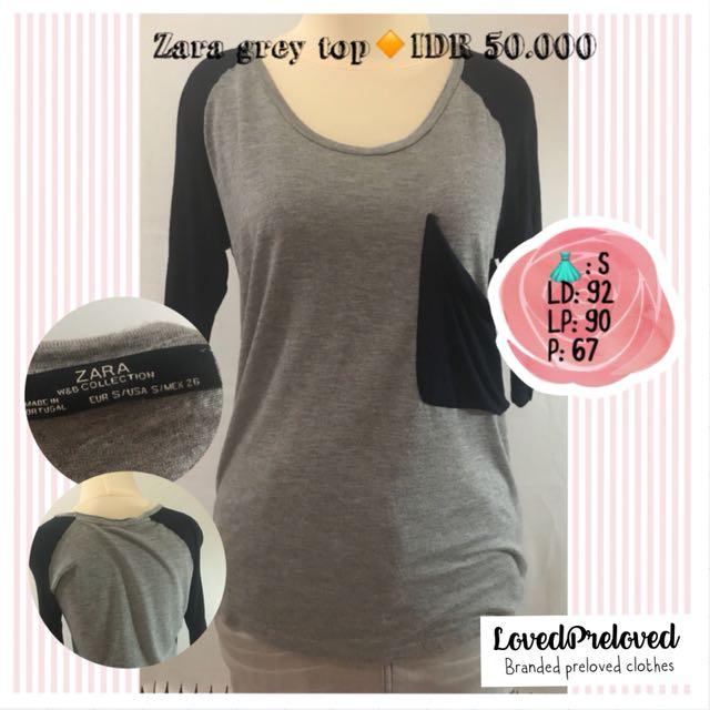 Zara grey tshirt