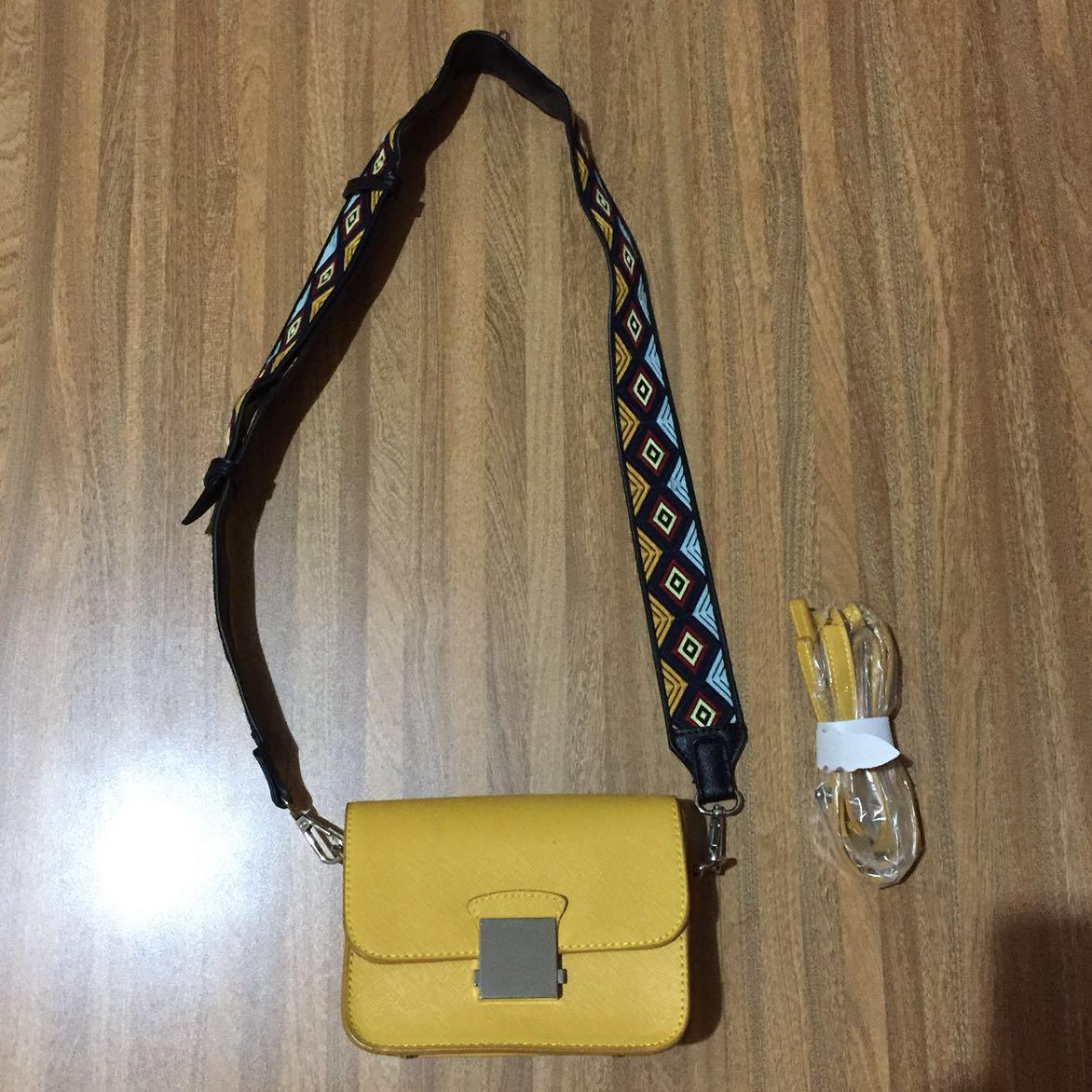 Zara yellow sling bag