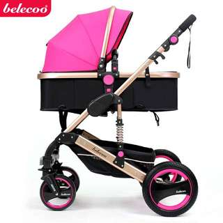 Belecoo 2in1 High Landscape Baby Stroller