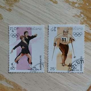 1992年冬季奥運動会已銷郵票2枚