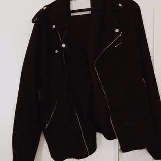 Zara Men's Denim Biker Jacket