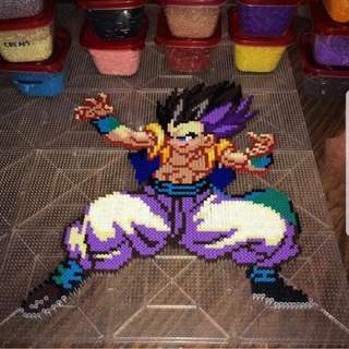 Hama beads design Dragon Ball Z GOTENKS