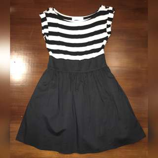 """BYSI """"can can"""" skirt striped dress"""