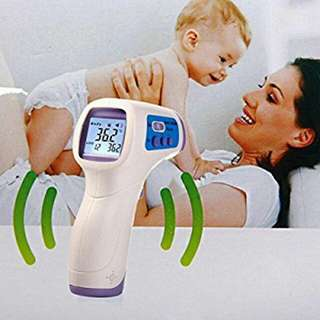 DM300 Infrared Digital Baby Thermometer Gun Non-contact Temperature Measurement Device.  Blue.