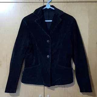 Corduroy Black Jacket