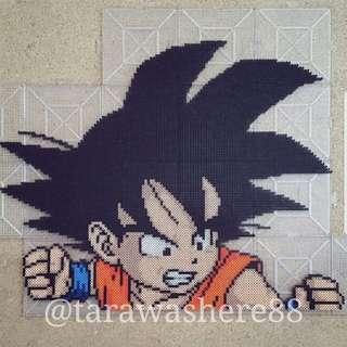 Hama beads design Dragon Ball Z Young / Small Goku