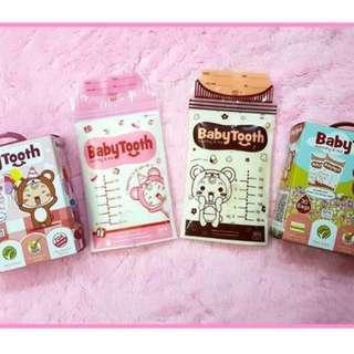 BabyTooth Milk Storage Ziplock Bags