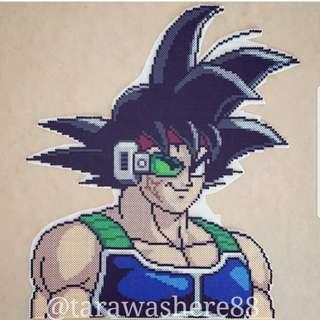 Hama beads design Dragon Ball Z Bardock