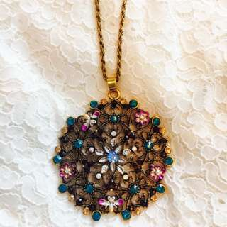 Vintage Floral Necklace