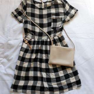 Forever 21 checkered dress