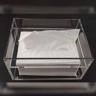 手作材料出清 滴膠押花紙巾盒材料 亞加力膠紙巾盒 透明