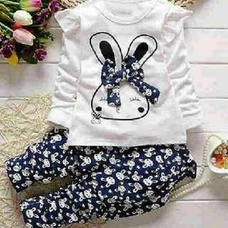 Setelan Navy Kids Rabbit 2in1