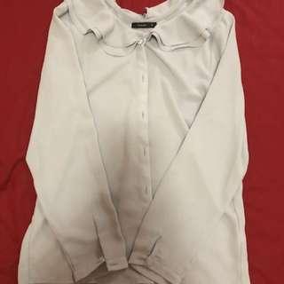 Pazzo 粉紫雪紡襯衫