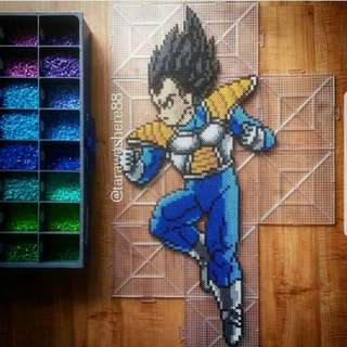 Hama beads design Dragon Ball Z Vegeta